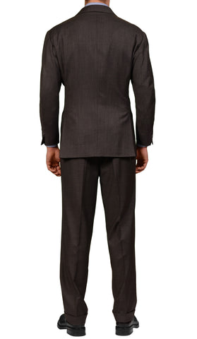 RUBINACCI LH Hand Made Bespoke Gray Wool 1 Button Suit EU 54 NEW US 44