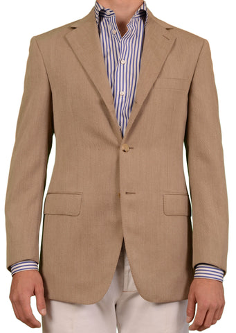 RUBINACCI LH Hand Made London House Solid Beige Wool Jacket EU 50 NEW US 38 40 - SARTORIALE - 1