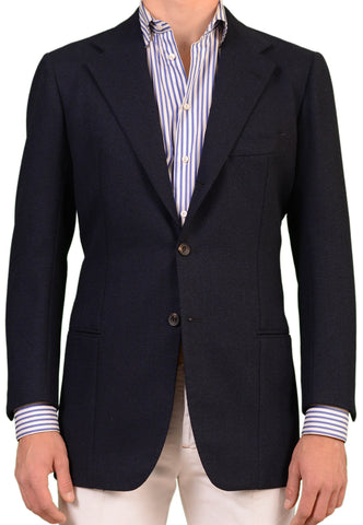 RUBINACCI LH Hand Made London House Bespoke Blue Wool-Mohair Jacket 50 NEW 38 40 - SARTORIALE - 1