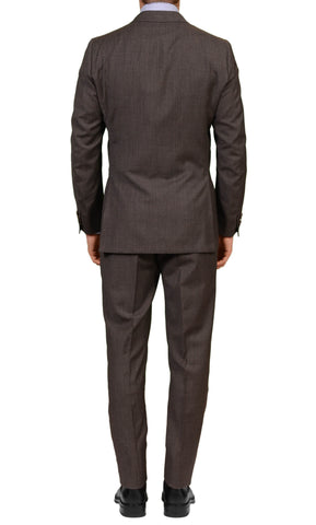RUBINACCI LH Hand Made Bespoke Dark Gray Wool DB Suit EU 50 NEW US 38 40