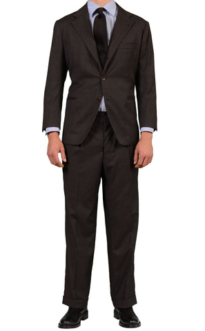 RUBINACCI LH Hand Made London House Bespoke Dark Gray Suit EU 52 NEW US 40 Short - SARTORIALE - 1