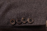 RUBINACCI LH Hand Made London House Bespoke Gray Flannel Wool Jacket 50 NEW 40 - SARTORIALE - 5