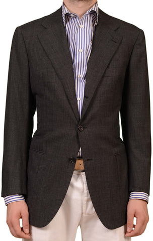 RUBINACCI LH Hand Made London House Bespoke Gray Wool Jacket EU 48 NEW US 36 38 - SARTORIALE - 1