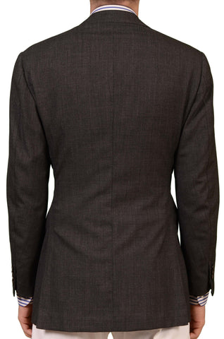 RUBINACCI LH Hand Made London House Bespoke Gray Wool Jacket EU 48 NEW US 36 38 - SARTORIALE - 2