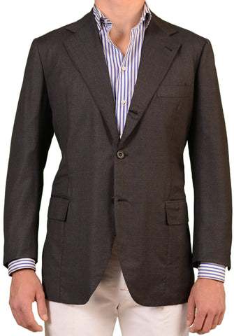 RUBINACCI LH Hand Made London House Bespoke Gray Wool Super150s Jacket 52 NEW 42 - SARTORIALE - 1