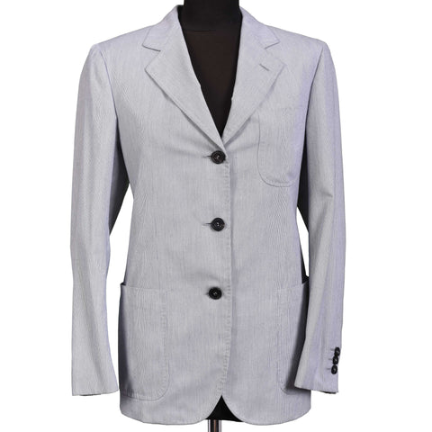 RUBINACCI LH Handmade Light Blue Cotton Blend Women Blazer Jacket IT 42 US 6