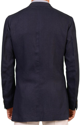 RUBINACCI LH London House Bespoke Blue Linen Jacket EU 52 L NEW US 40 42 Long - SARTORIALE - 2
