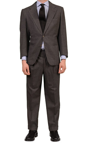 RUBINACCI LH London House Bespoke Gray Flannel Wool Suit 50 Short US 38 40 Short - SARTORIALE - 1