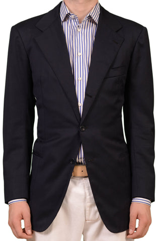 RUBINACCI LH London House Bespoke Navy Blue Wool Jacket Blazer EU 48 US 38 - SARTORIALE - 1