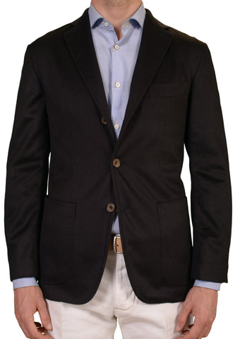 RUBINACCI LH Solid Black Cashmere Unconstructed Soft Jacket EU 50 NEW US 40 - SARTORIALE - 1