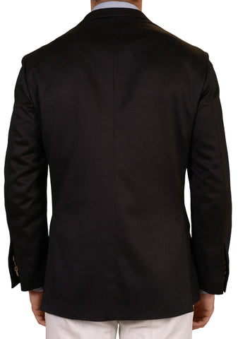 RUBINACCI LH Solid Black Cashmere Unconstructed Soft Jacket EU 50 NEW US 40 - SARTORIALE - 2