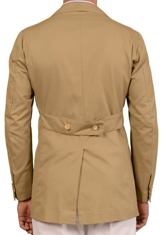 RUBINACCI LH Solid Tan Cotton Blazer Jacket EU 50 NEW US 40 Martin Gala - SARTORIALE - 2
