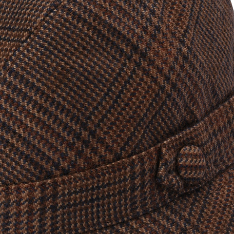"RUBINACCI London House by Herbert Johnson UK Wool Tweed ""Humphrey"" Hat 6 7/8-56"