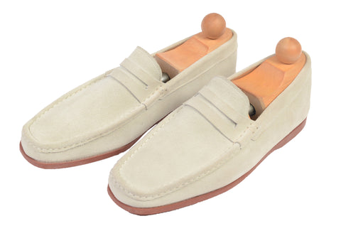 "RUBINACCI Napoli ""Boat Mocassin"" Sand Suede Loafer Moccasin Shoes NEW"