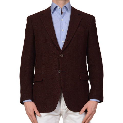 RUBINACCI Napoli Burgundy Wool Blazer Jacket with Silk Lining NEW