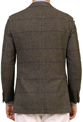 RUBINACCI Napoli Gray Plaid Cashmere Blazer Soft Jacket US NEW - SARTORIALE - 2