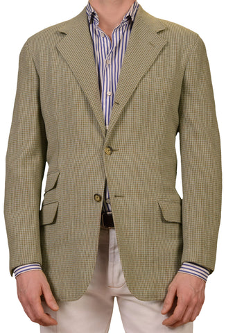 MARIANO RUBINACCI Napoli Green Wool Blazer Jacket EU 50 NEW US 40