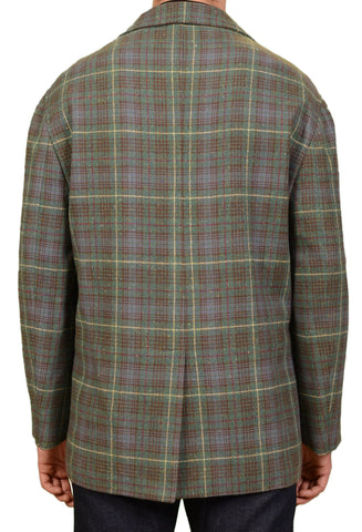RUBINACCI Napoli Italy Green Prince Of Wales Overplaid Wool Jacket M NEW 50