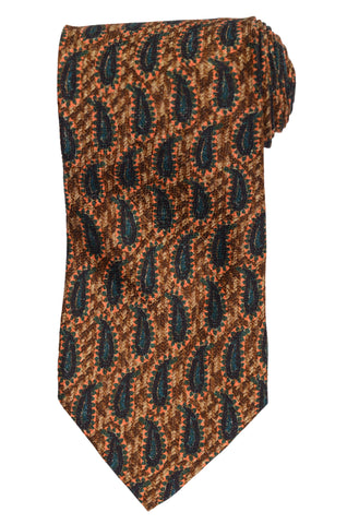 RUBINACCI Napoli Made In Italy Multi-Color Paisley Silk Classic Tie NEW
