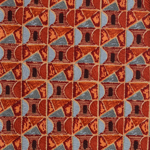 RUBINACCI Napoli Made In Italy Orange & Gray Silk Classic Tie NEW