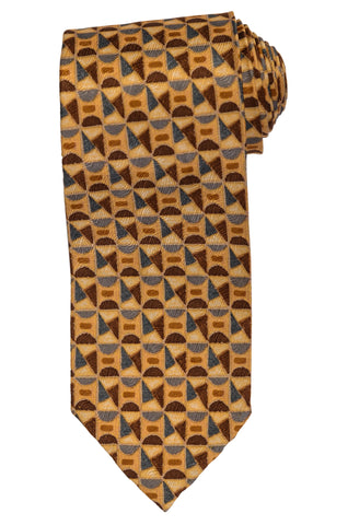 RUBINACCI Napoli Made In Italy Yellow Silk Classic Unlined Tie NEW
