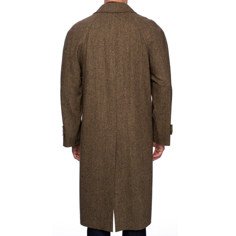 RUBINACCI Napoli Olive Wool Long OverCoat Coat EU 54 NEW US 44 / XL