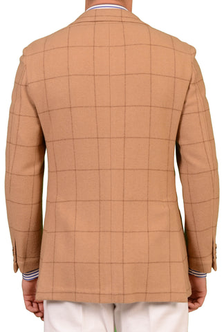 RUBINACCI Napoli Tan Windowpane Cashmere Blazer Soft Jacket NEW Slim - SARTORIALE - 2