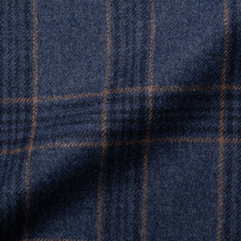 SARTORIA CASTANGIA Blue Plaid Merino Wool Flannel Jacket EU 60 NEW US 50 Long