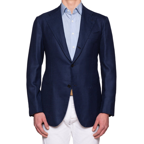 SARTORIA CHIAIA Bespoke Blue CERRUTI Wool Super 130's Jacket 52 NEW US 42 Long