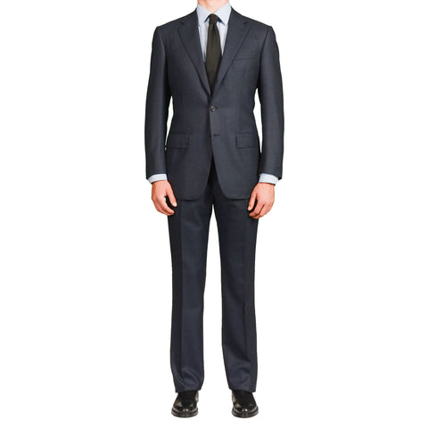 SARTORIA ANTONIO T. Milano by D'Avenza Navy Blue Wool Suit EU 50 NEW US 40