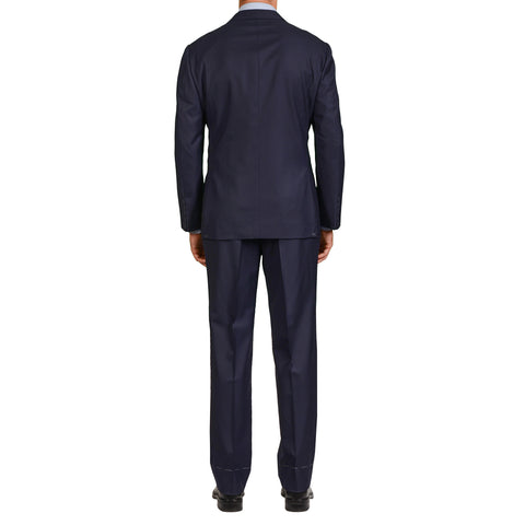 SARTORIA ANTONIO T. Milano D'Avenza Navy Blue Wool Suit EU 54 NEW US 44
