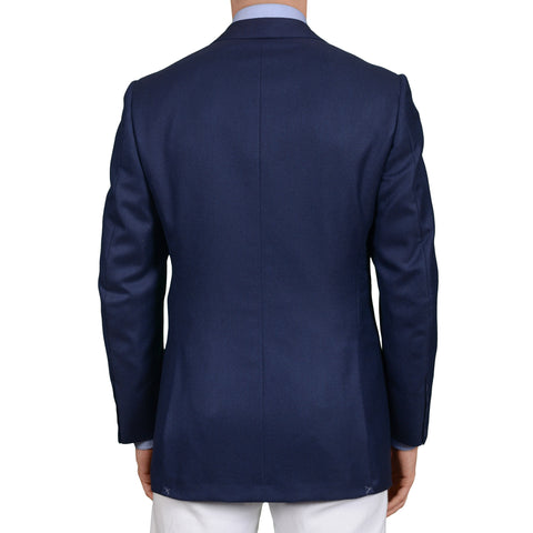 SARTORIA ANTONIO T. Handmade Navy Blue Cashmere Jacket EU 50 NEW US 40