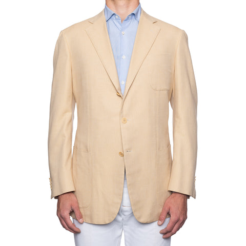 SARTORIA CASTANGIA Beige Cotton Unlined Jacket EU 56 NEW US 46