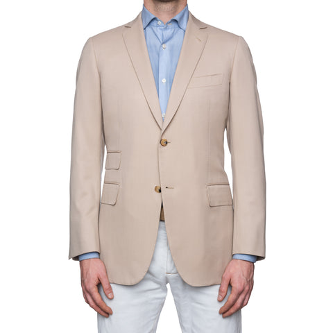 SARTORIA CASTANGIA Beige Wool Sport Coat Jacket EU 50 NEW US 40