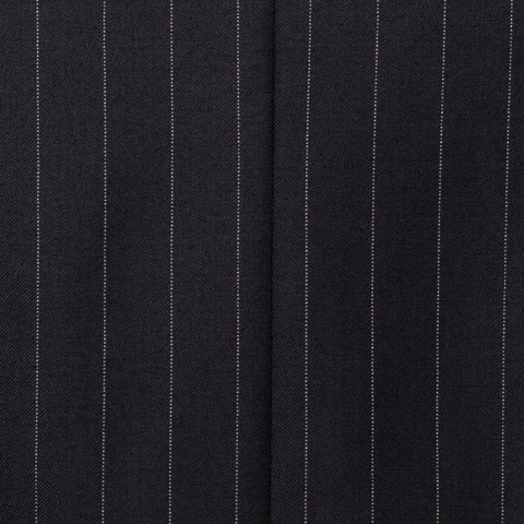 SARTORIA CASTANGIA Black Striped Wool Super 110's Suit EU 48 NEW US 38