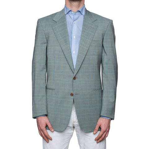 SARTORIA CASTANGIA Blue Plaid Wool Sport Coat Jacket EU 52 NEW US 42