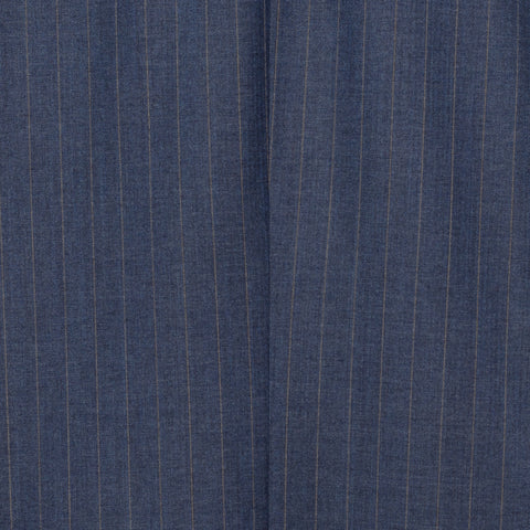SARTORIA CASTANGIA Blue Striped Merino Wool Suit NEW