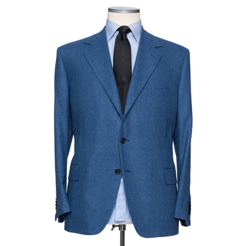 SARTORIA CASTANGIA Blue Wool Super 130's Flannel Suit NEW US 46 48 Short