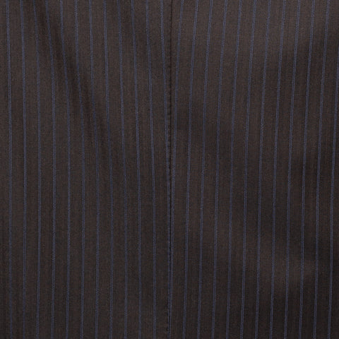 SARTORIA CASTANGIA Diplomat Brown Striped Wool Super 130's Suit EU 52 NEW US 42