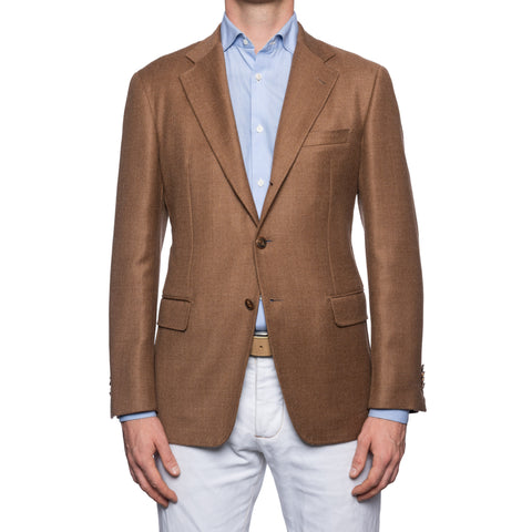 SARTORIA CASTANGIA Brown Wool-Cashmere Jacket EU 50 NEW US 40