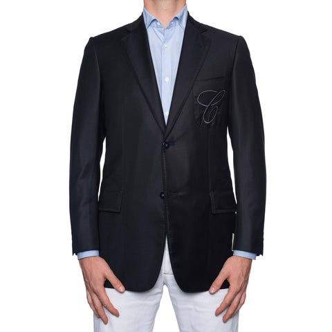 SARTORIA CASTANGIA Dark Blue Wool Super 150's Sport Coat Jacket EU 48 NEW US 38