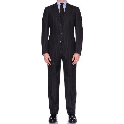 SARTORIA CASTANGIA Dark Gray Striped Wool Super 160's Suit EU 50 NEW US 40