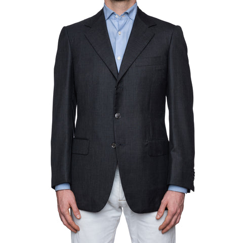 SARTORIA CASTANGIA Gray Lightweight Cashmere-Silk Jacket EU 50 NEW US 40