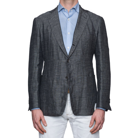 SARTORIA CASTANGIA Gray Linen-Wool-Silk Unlined Jacket EU 52 NEW US 42