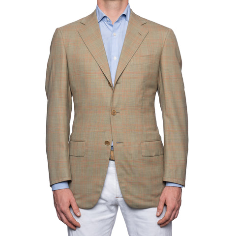 SARTORIA CASTANGIA Gray Plaid Wool Super 110's Jacket EU 48 NEW US 38