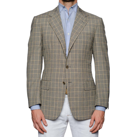 SARTORIA CASTANGIA Gray Prince of Wales Wool-Silk Sport Coat Jacket NEW