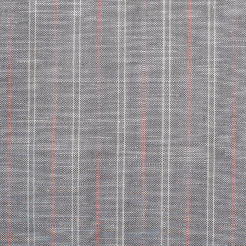 SARTORIA CASTANGIA Gray Striped Wool-Linen Spring-Summer Suit EU 48 NEW US 38