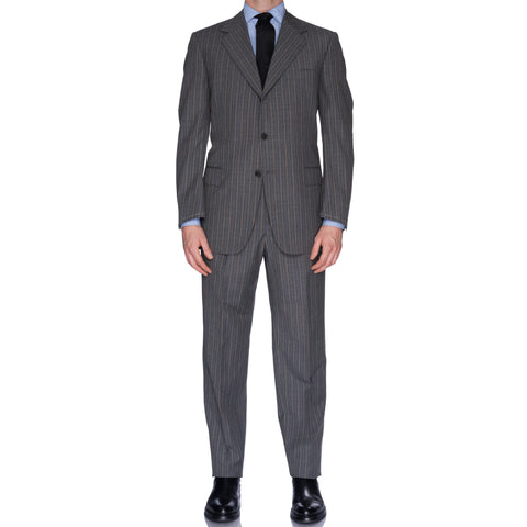SARTORIA CASTANGIA Gray Striped Wool Business Suit EU 52 NEW US 42