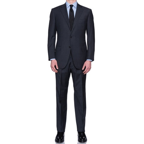 SARTORIA CASTANGIA Gray Striped Wool Suit EU 54 NEW US 44
