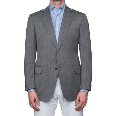 SARTORIA CASTANGIA Gray Wool Super 120's Jacket EU 52 NEW US 42